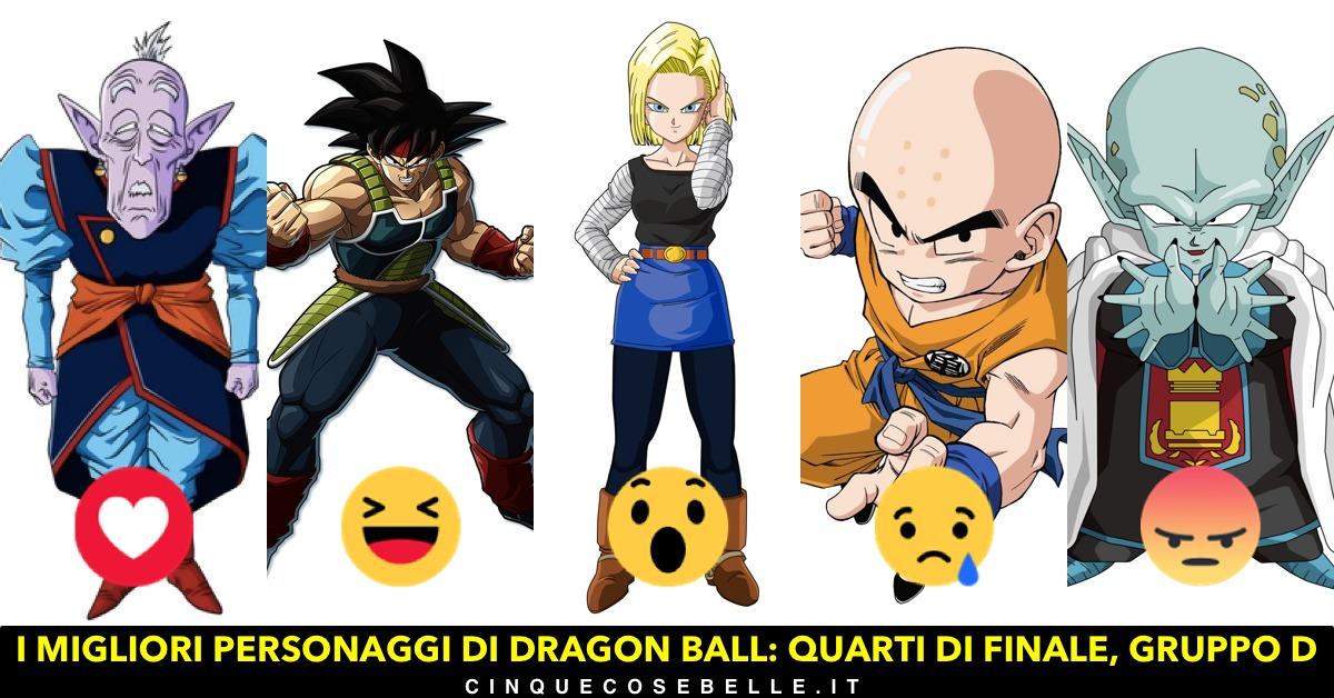 Il quarto gruppo dei personaggi di Dragon Ball