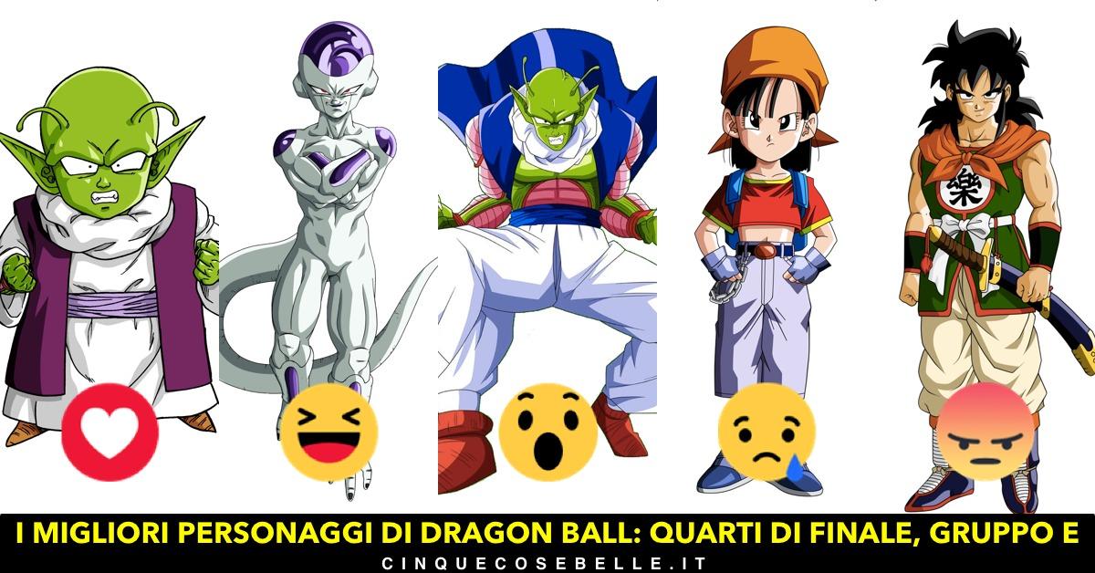 Il quinto gruppo dei personaggi di Dragon Ball