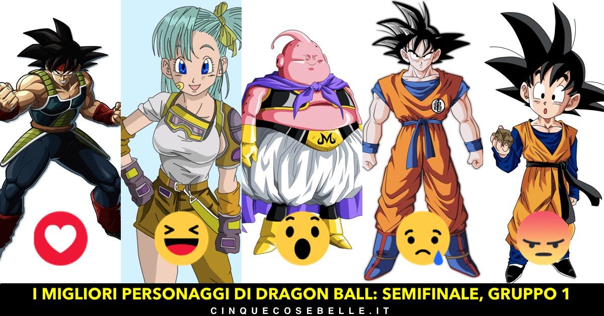 Il primo gruppo delle semifinali sui personaggi di Dragon Ball