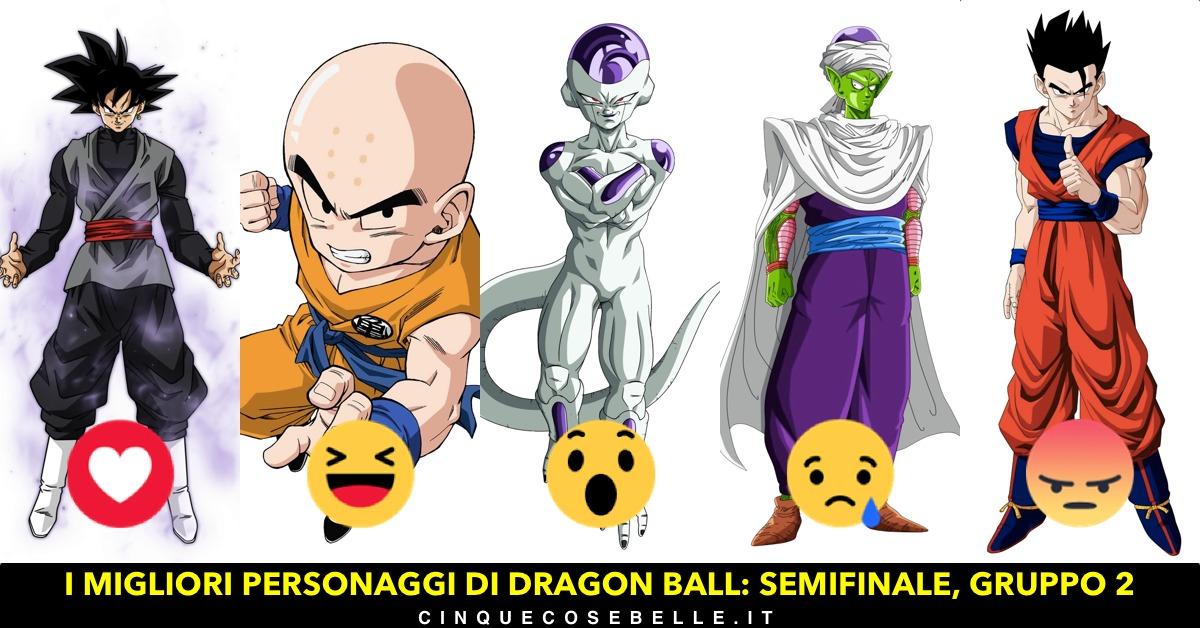 Il secondo gruppo delle semifinali sui personaggi di Dragon Ball