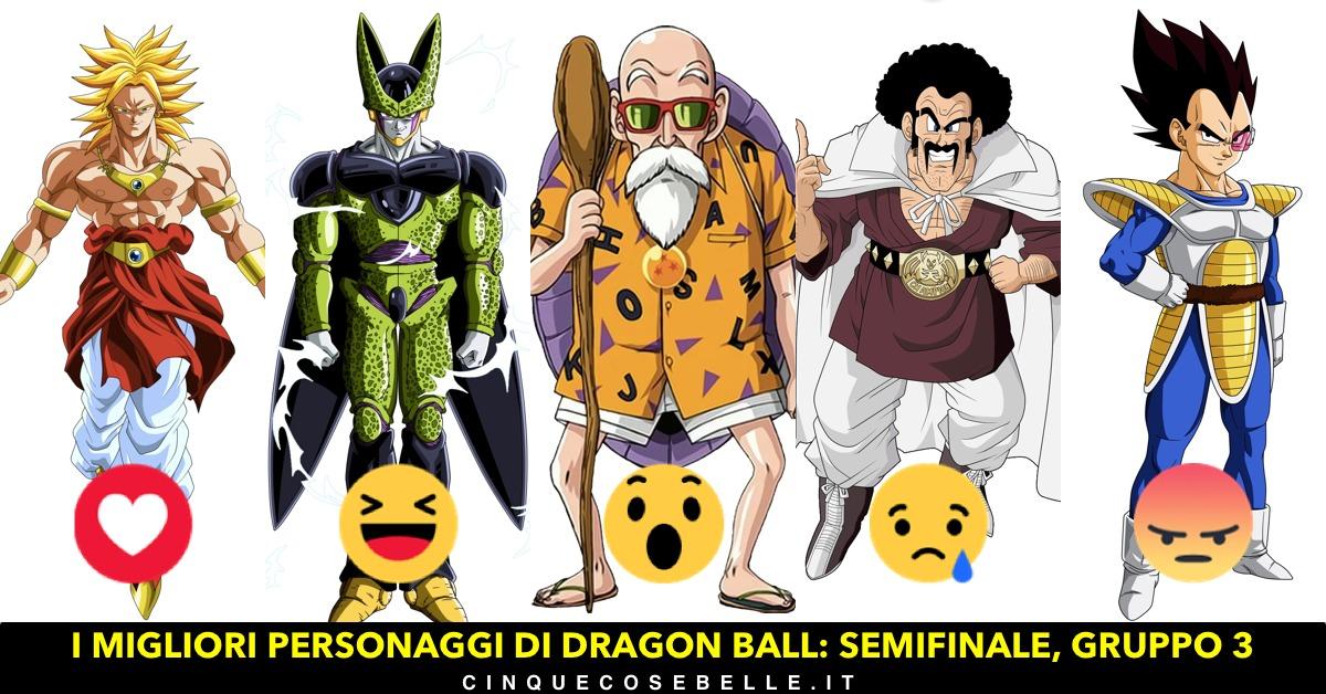 Il terzo gruppo delle semifinali sui personaggi di Dragon Ball