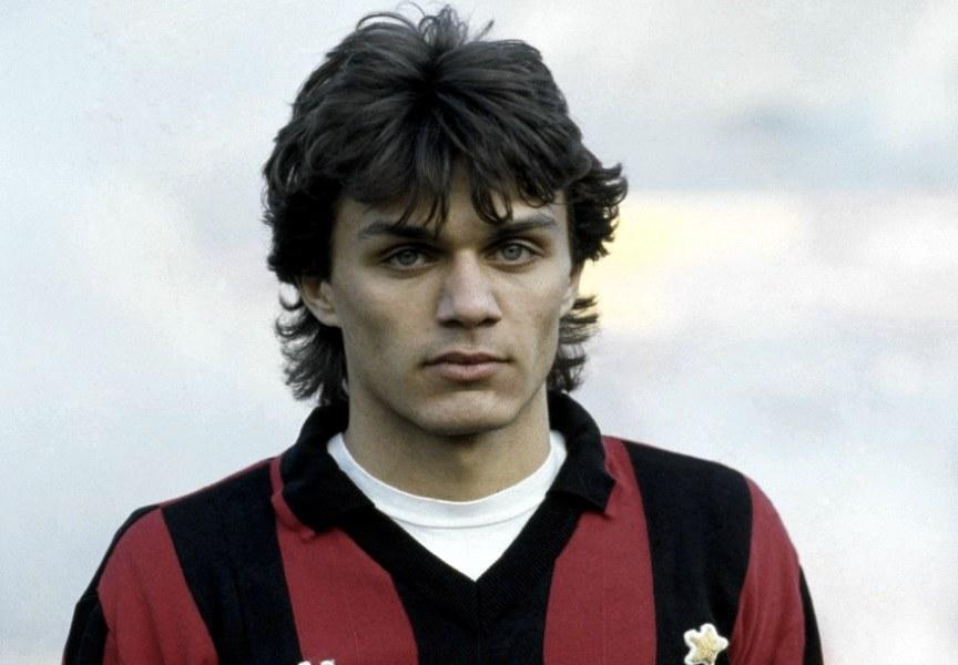 Paolo Maldini, il giocatore col maggior numero di presenze in serie A, al suo esordio nel 1985