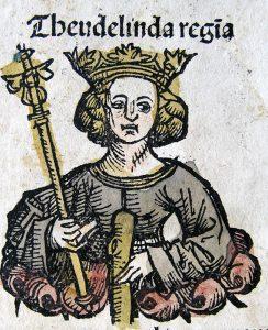 La regina longobarda Teodolinda