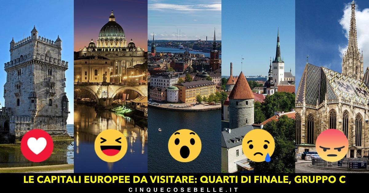 Il terzo gruppo dei quarti di finale per decidere la più bella tra le capitali europee da visitare