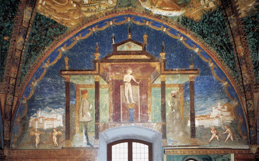 Uno degli affreschi della Camera d'Oro