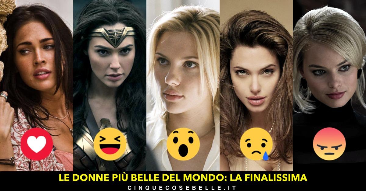 La finale con le cinque donne più belle del mondo secondo i nostri lettori