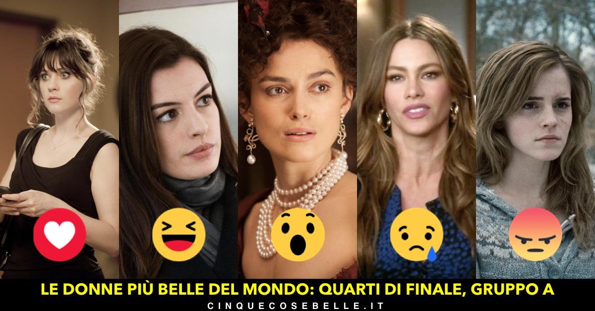 Il gruppo A della prima fase del sondaggio sulle donne più belle del mondo