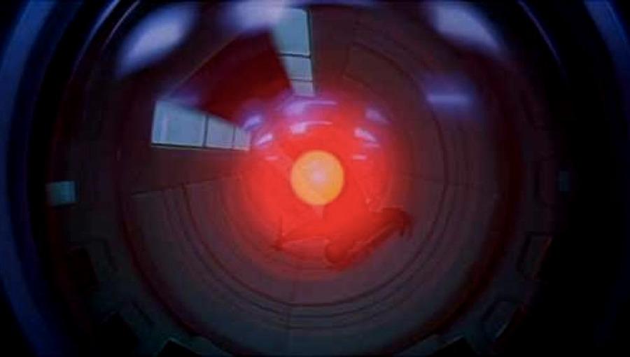 L'occhio di HAL 9000 in 2001: Odissea nello spazio