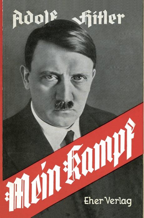 La copertina del Mein Kampf di Hitler