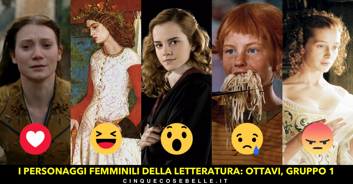 Il gruppo 1 del nostro sondaggio sui personaggi femminili della letteratura