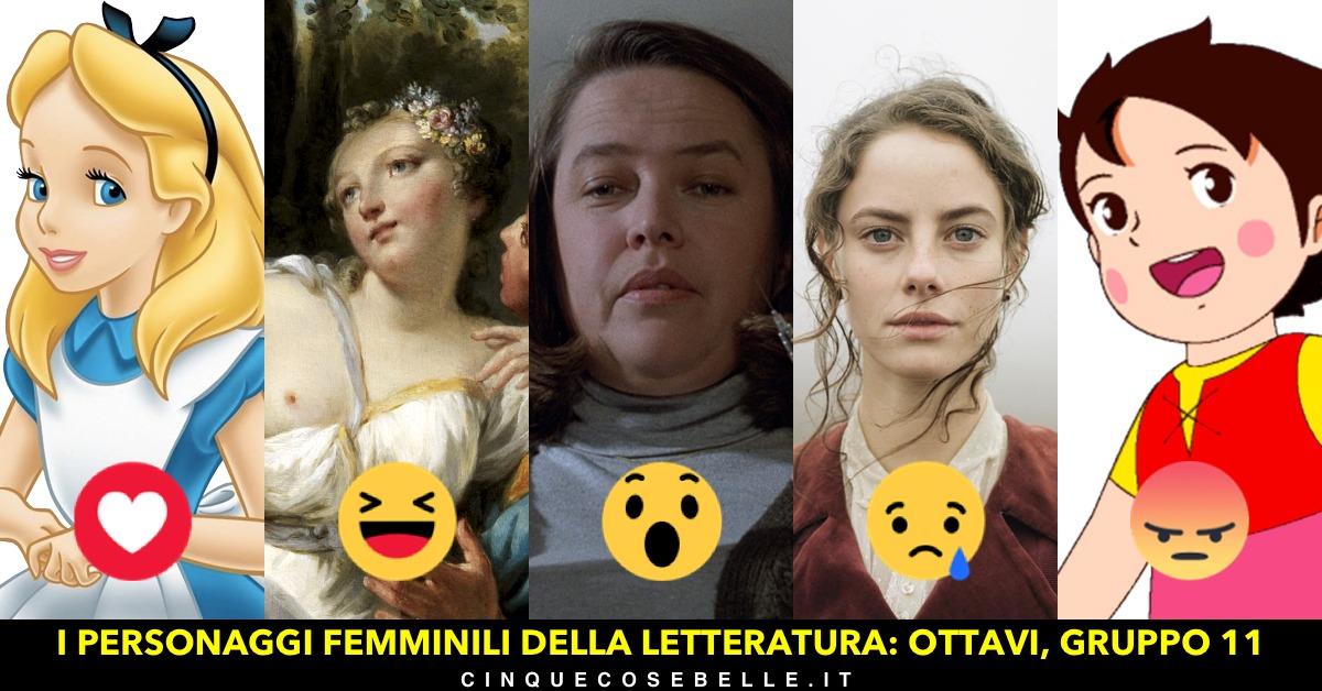 Il gruppo 11 del nostro sondaggio sui personaggi femminili della letteratura