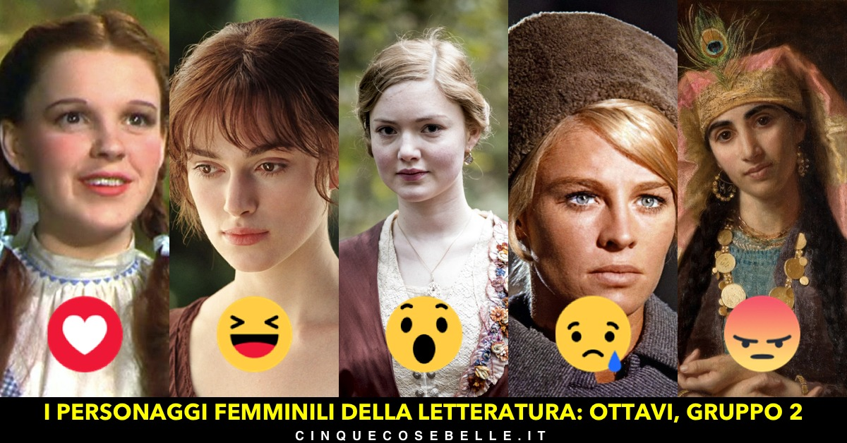 Il gruppo 2 del nostro sondaggio sui personaggi femminili della letteratura