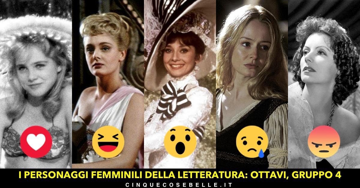 Il gruppo 4 del nostro sondaggio sui personaggi femminili della letteratura