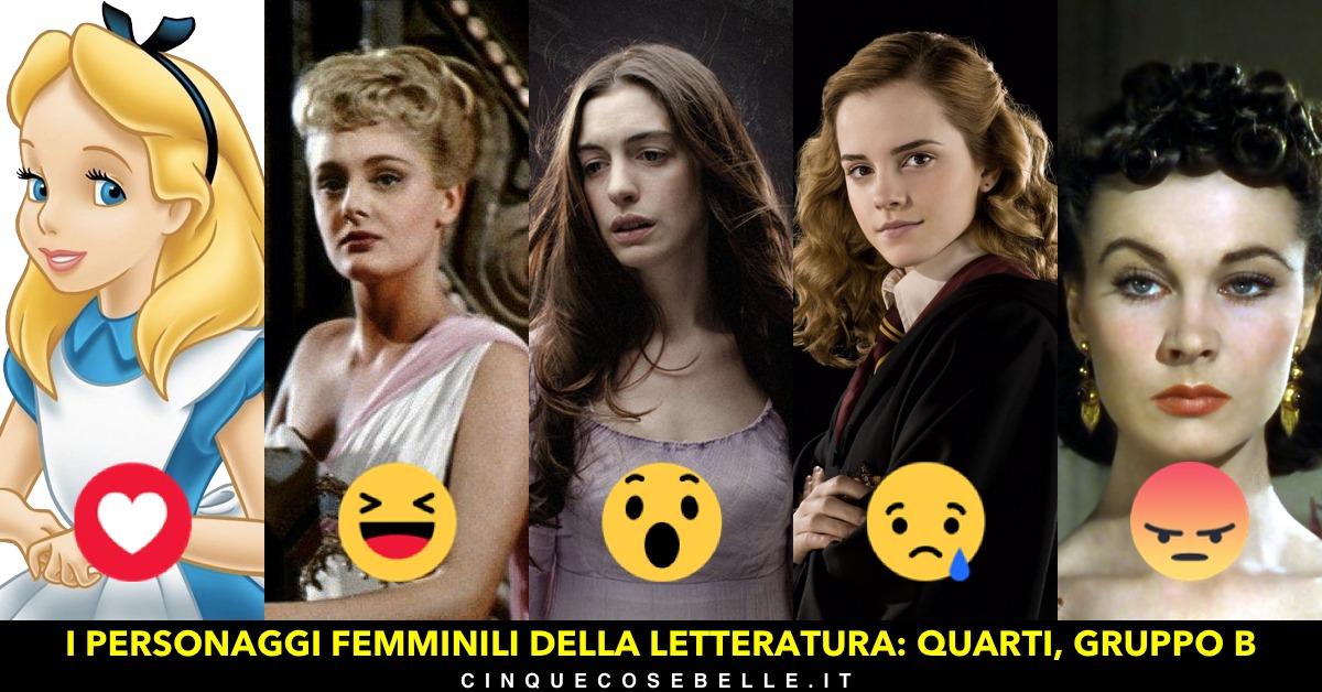 Il secondo gruppo dei quarti di finale del sondaggio sui personaggi femminili