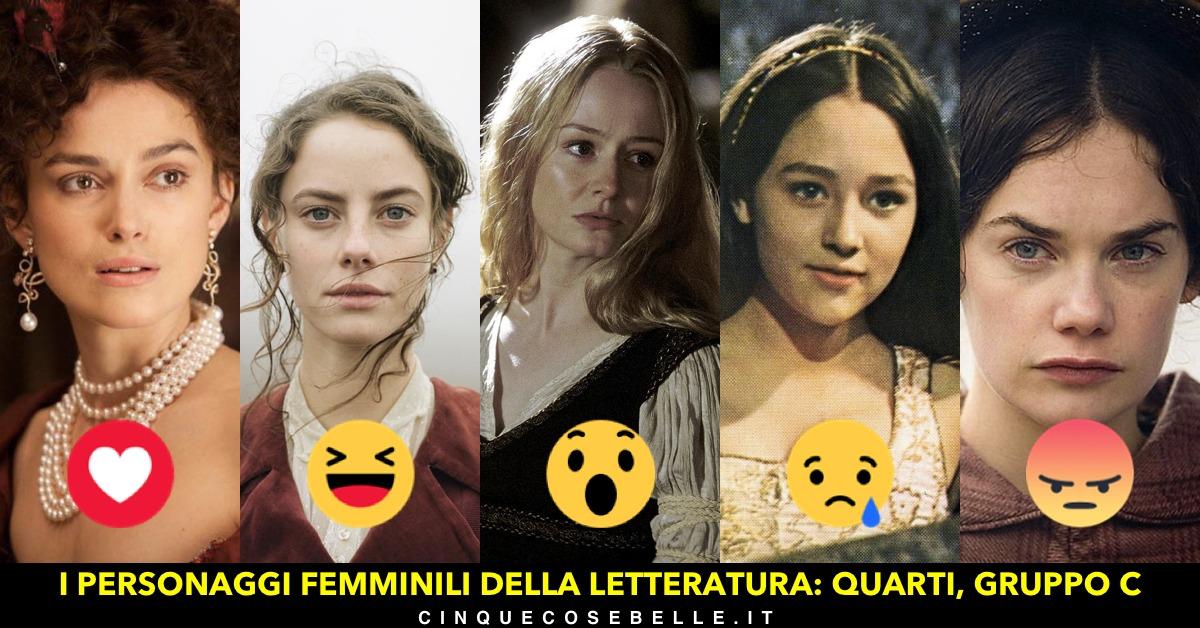 Il terzo gruppo dei quarti di finale del sondaggio sui personaggi femminili