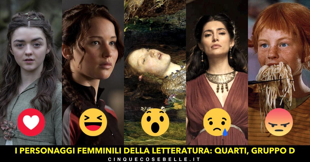 Il quarto gruppo dei quarti di finale del sondaggio sui personaggi femminili