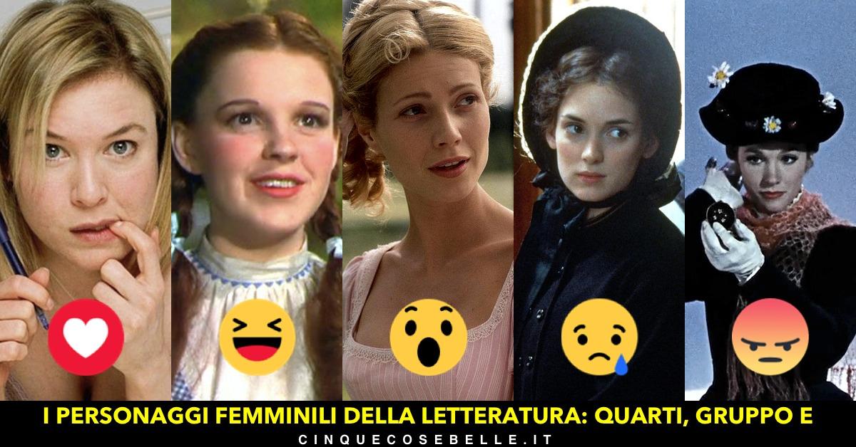 Il quinto gruppo dei quarti di finale del sondaggio sui personaggi femminili