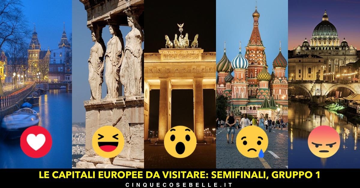 Le semifinali del nostro sondaggio sulle capitali europee