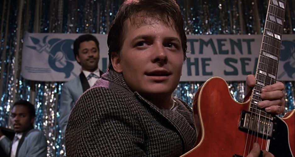 Michael J. Fox, alias Marty McFly, nel primo capitolo di Ritorno al futuro