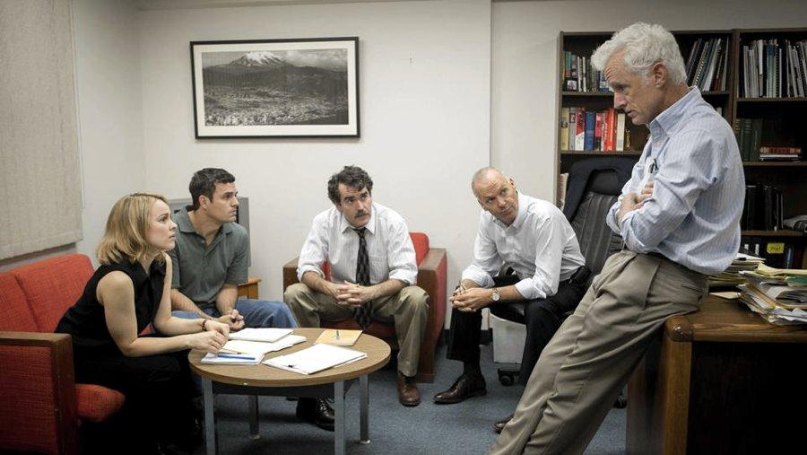Alcuni dei protagonisti de Il caso Spotlight, uno dei migliori film recenti tratti da storie vere