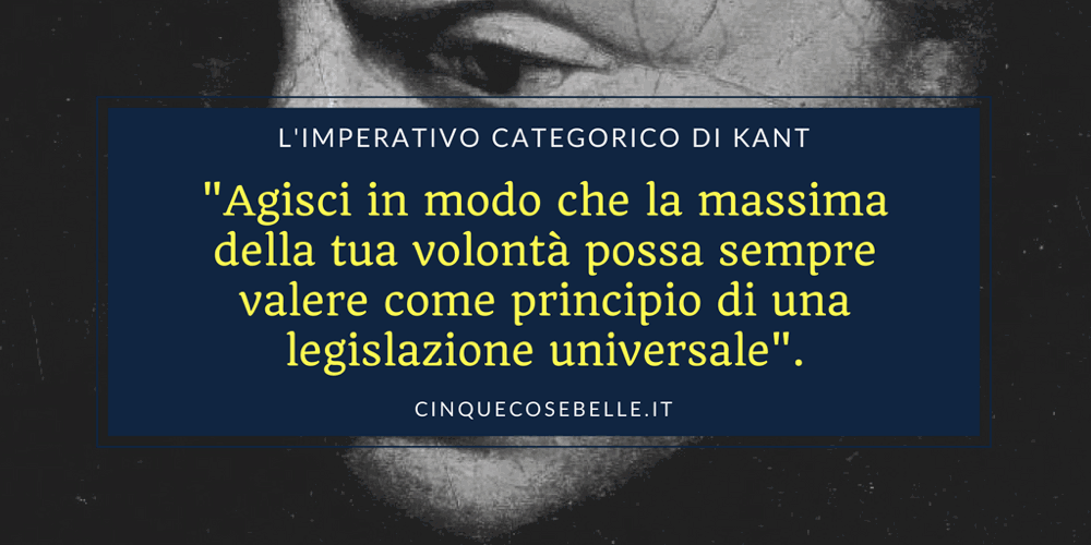 L'imperativo categorico di Kant