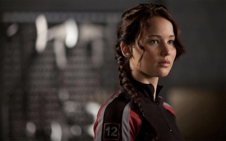 Katniss Everdeen, protagonista di Hunger Games, interpretata da Jennifer Lawrence