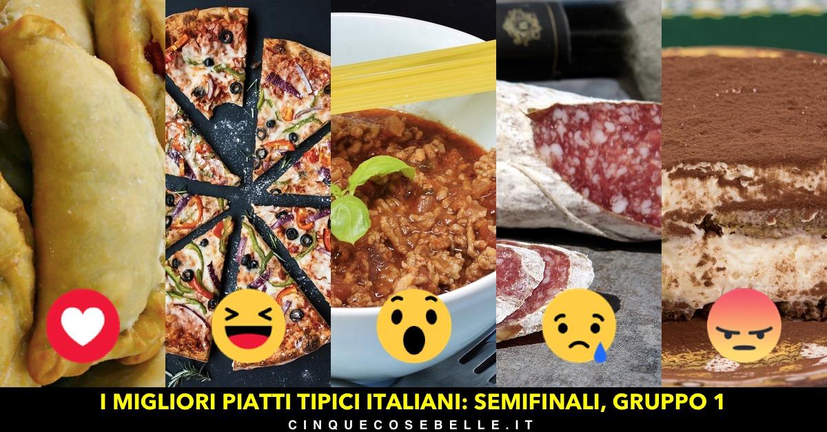 Il primo gruppo delle semifinali sui piatti tipici italiani