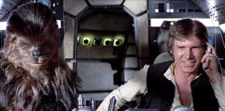 Han Solo e Chewbecca all'interno della Millennium Falcon, una delle astronavi più famose del cinema