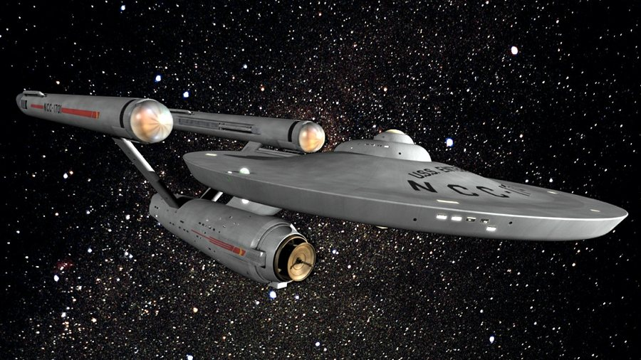 La storica nave Enterprise che ha fatto la fortuna della saga di Star Trek