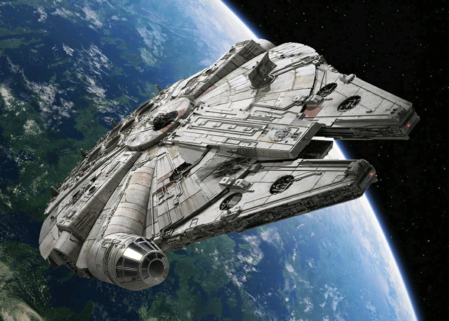 Il Millennium Falcon di Star Wars, forse la più celebre tra le astronavi in elenco