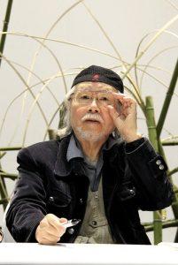 Leiji Matsumoto a Ginevra nel 2014 (foto di Fabien Perissinotto via Wikimedia Commons)
