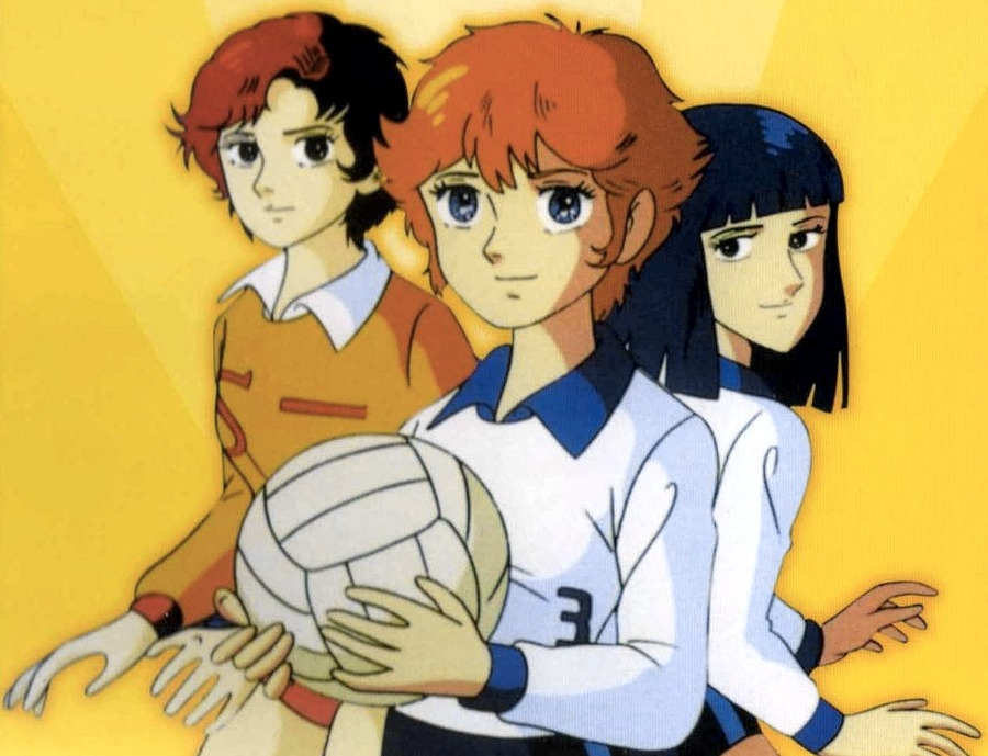 Alcune delle protagoniste femminili di Mila & Shiro, due cuori nella pallavolo