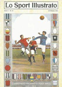 Una delle prime copertine de Lo sport illustrato, supplemento della Gazzetta dello Sport di inizio Novecento