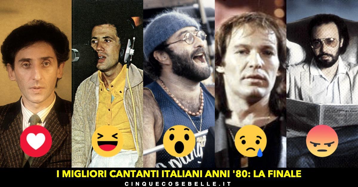 La finale del sondaggio sul miglior cantante italiano anni '80
