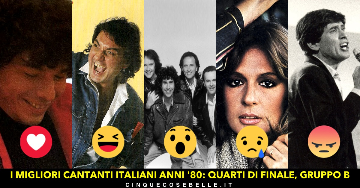 Il gruppo B dei migliori cantanti italiani anni '80