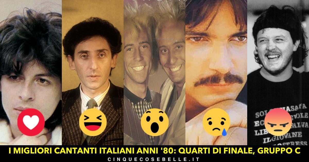Il gruppo C dei migliori cantanti italiani anni '80