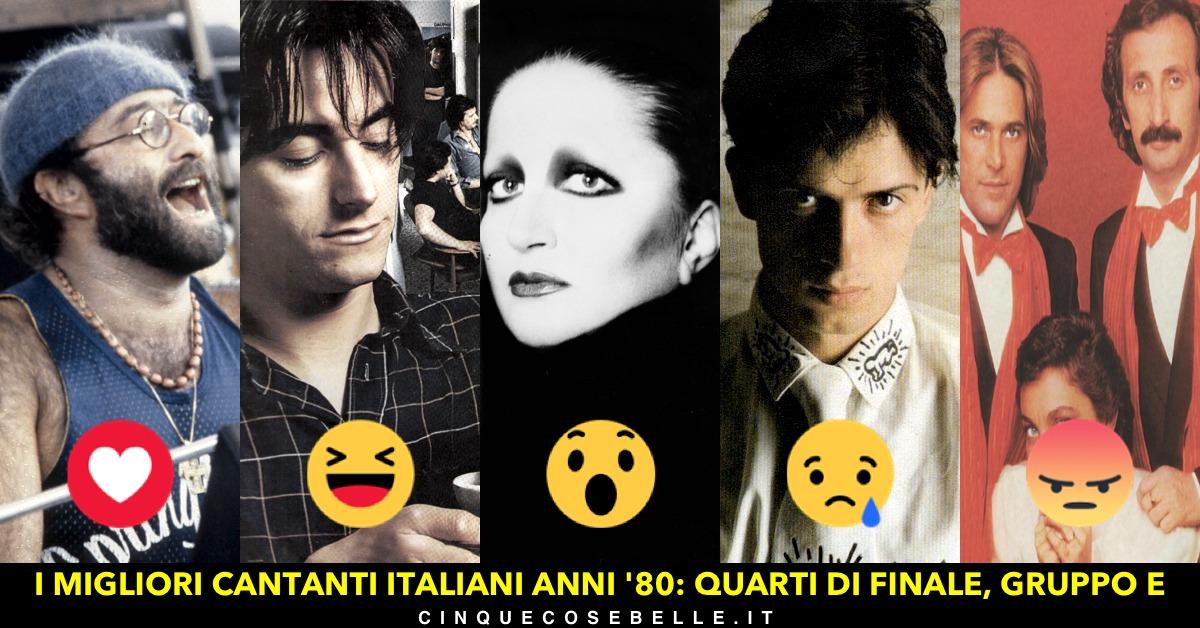 Il gruppo E dei migliori cantanti italiani anni '80