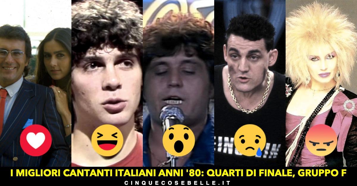 Il gruppo F dei migliori cantanti italiani anni '80