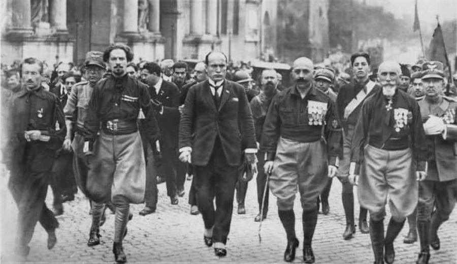 Mussolini durante la Marcia su Roma