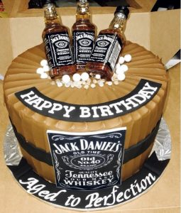 La torta di Jack Daniels, per l'uomo invecchiato alla perfezione