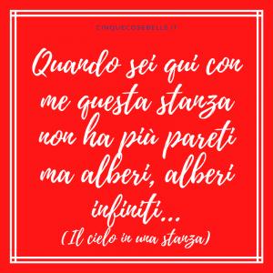 Un verso de Il cielo in una stanza di Gino Paoli
