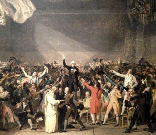 Il giuramento della pallacorda, famoso quadro di Jacques-Louis David che ci introduce al riassunto sull'Illuminismo