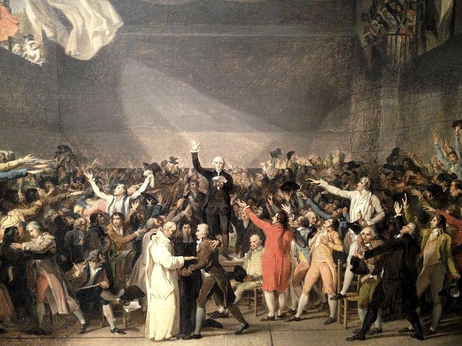 Il giuramento della pallacorda, famoso quadro di Jacques-Louis David