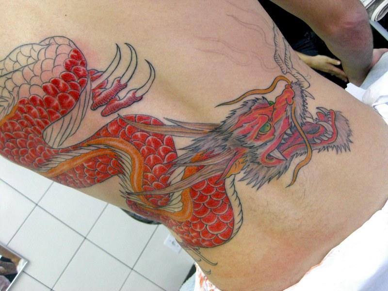 Un drago sulla schiena (foto di Micael Faccio via Flickr)