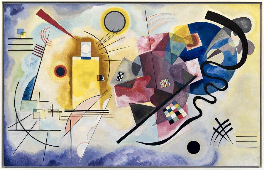 Giallo, rosso, blu (1925) di Kandinskij, conservata al Centro Pompidou