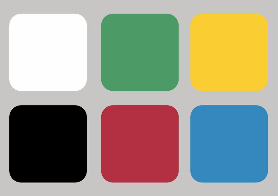 Lo schema dei colori puri realizzato da Spooky (via Wikimedia Commons)