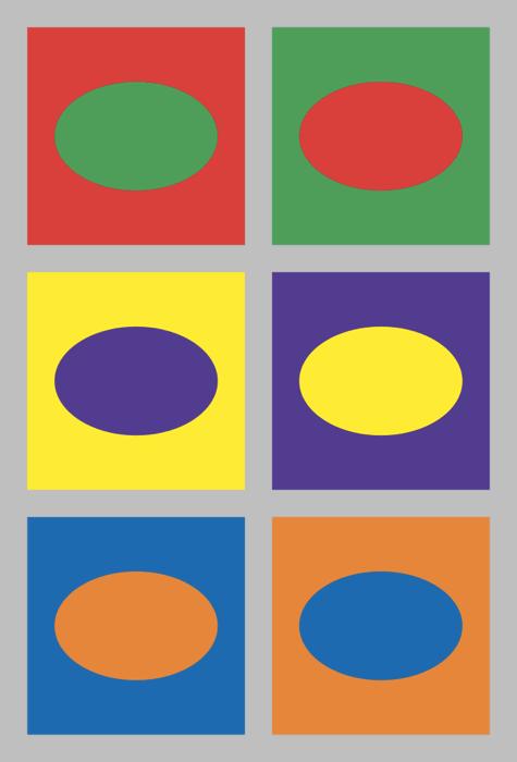 Schema dei colori complementari di Ellywa (via Wikimedia Commons)