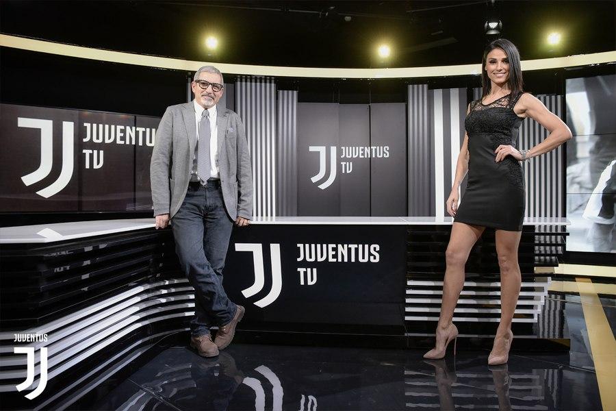 Monica Somma con Claudio Zuliani negli studi di Juventus TV