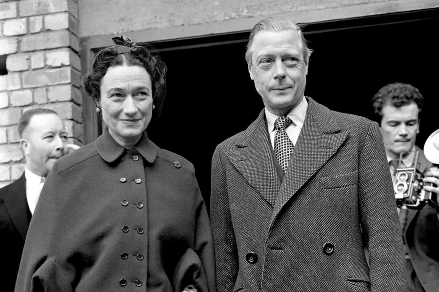 Il duca di Windsor Edoardo e sua moglie Wallis Simpson