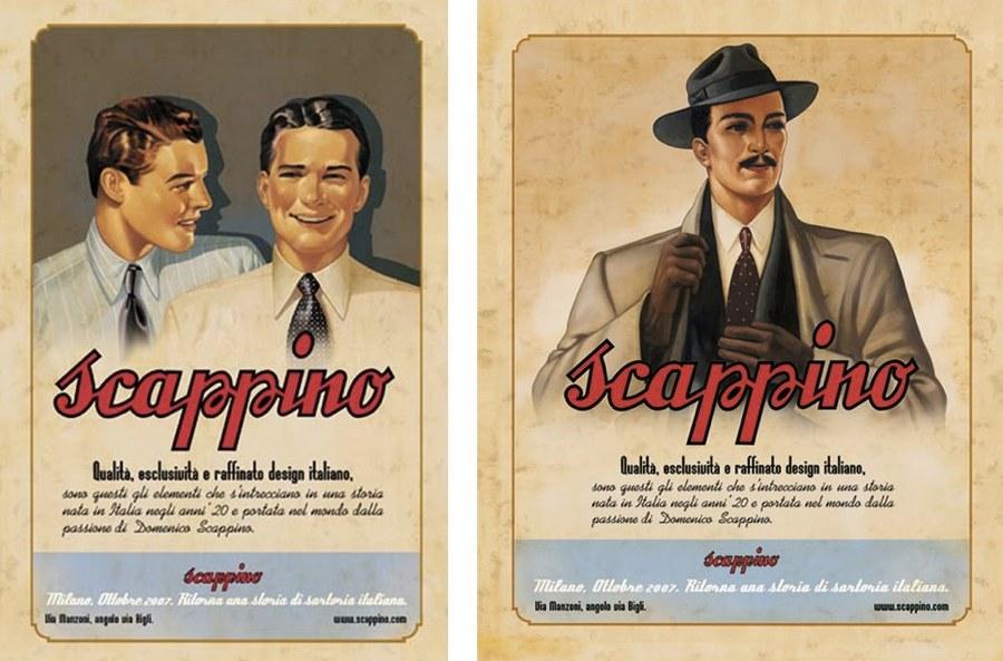 Una pubblicità della ditta Scappino
